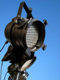 LED Stage Lights. Set of LED stage lights in front of clear, blue sky stock photo