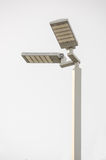 LED street lamps. LED street lamps post on gray background stock images