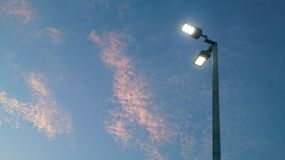 Led Street lighting fixture Royalty Free Stock Photos