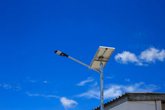 LED street lighting power supply solar cells Royalty Free Stock Image