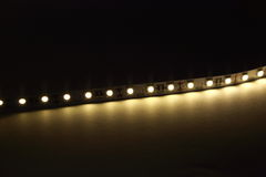 LED Strip Lighting Royalty Free Stock Photo