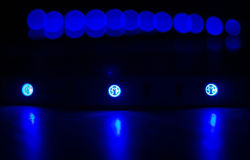Led Strip lights. On Black Background Stock Photo