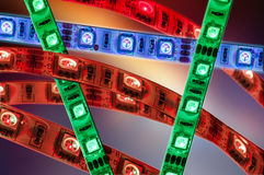 Led strip rgb, flexible ledLeisten Stock Photo