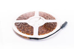 Led strip on white background Royalty Free Stock Images