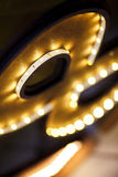 LED strip in a wooden frame Royalty Free Stock Photo