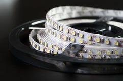 Led Stripes On Black Background Stock Photography