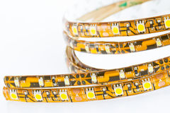 LED strips compare. With the 1-chip and 3-chip SMD LED Stock Photo