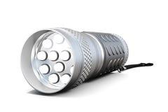 LED-Taschenlampe auf weißem Hintergrund Wiedergabe 3d Stockfotografie