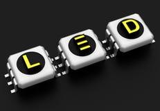 LED-Technologiezeichen stock abbildung