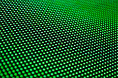 LED technology. A matrix of LEDs glowing with green color. Shallow depth of field for a blurred effect Royalty Free Stock Photos