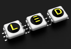 LED technology sign Royalty Free Stock Images