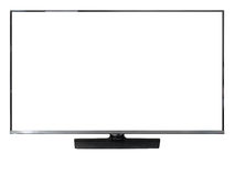 Led television on white background isolate Stock Photos
