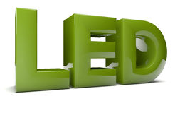 Led text Stock Images