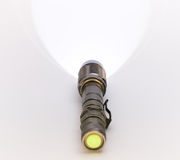 LED Torch light,  on white. Stock Photo