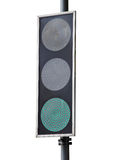 Led traffic light. Isolated on white background Stock Images