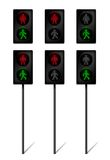 LED Traffic light for pedestrians Royalty Free Stock Photography