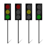 LED Traffic Lights Stock Photo