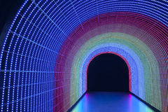 LED tunnel Royalty Free Stock Image