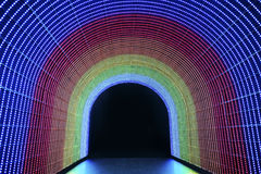 LED tunnel Stock Images