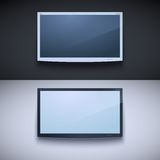 Led tv hanging on the wall Stock Photography