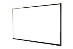 LED TV, installazione della parete, isolata su fondo bianco Immagine Stock Libera da Diritti