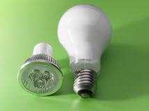 LED v/s Light Bulb Royalty Free Stock Photo