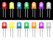 LED. Vector illustration of led colors Royalty Free Stock Images