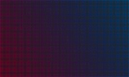 LED video wall screen texture background. Vector blue and red purple color light LED diode video screen royalty free illustration
