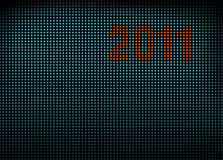 Led wall with numbers 2011 Stock Photo