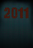 Led wall with numbers 2011 Royalty Free Stock Photo