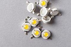 LED warme starke LED 1watt oder 3 Watt Stockfoto