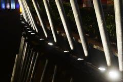 Led waterproof lamp. Waterproof lamp effect in lake park at night Stock Images