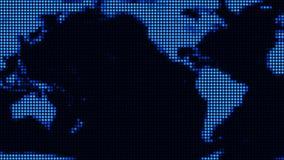 LED-Weltkarte (Schleife) lizenzfreie abbildung