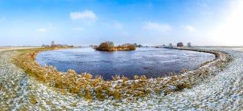Leda flodkrökning Arkivfoto