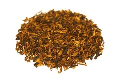 Leda i rör tobak som isoleras på vit Royaltyfria Bilder
