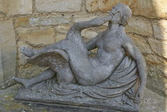 Leda and the Swan statue at Hever Castle Garden in England Stock Photography