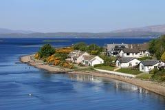 Ledaig-Punkt, Lynn von Lorn und Lismore-Insel stockfotos