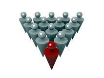 ledande lag för ledare stock illustrationer