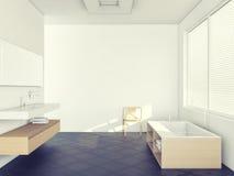 Ledar- badrum Arkivfoto