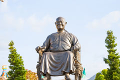 Ledar- Sanga-Kulkobkiat, grundaren av Viharnra Sient på Pataya, Thailand, hus av guden fotografering för bildbyråer