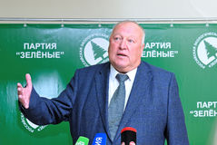 Ledare av den ryska Miljöpartiet Royaltyfria Foton