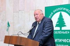 Ledare av den ryska Miljöpartiet Arkivbild