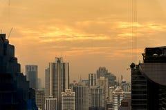 Ledare: Bangkok stad, Thailand, 16th Februari 2017 Bangkok Ci Arkivbild