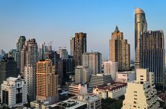 Ledare: Bangkok stad, Thailand, 16th Februari 2017 Bangkok Ci Royaltyfri Fotografi