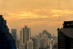 Ledare: Bangkok stad, Thailand, 16th Februari 2017 Bangkok Ci Royaltyfri Bild