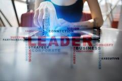 ledare ledarskap Teambuilding äganderätt för home tangent för affärsidé som guld- ner skyen till Ordmoln Royaltyfria Foton