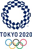 Ledare - logo för 2020 sommarOS:er royaltyfri illustrationer