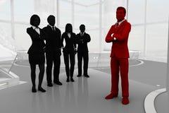 Ledare med ett effektivt lag Arkivbilder