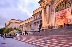 Ledare: New York City New York/USA, 8th November 2017 Den storstads- konstmuseet i New York på natten fotografering för bildbyråer