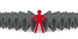 Ledare och folk vektor illustrationer